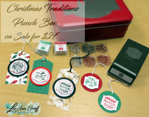 Christmas Traditions punch box and tags