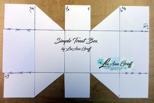 Quick Treat box template