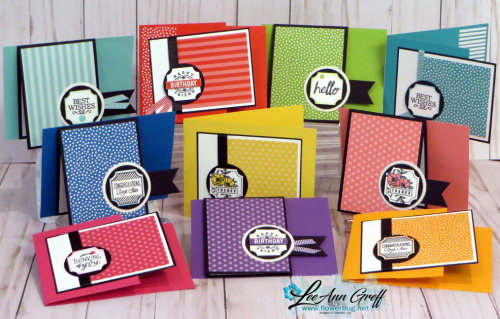 Brights August cards