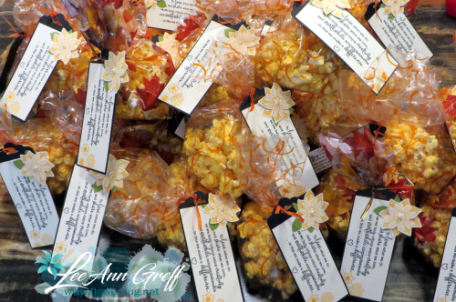 Fall retreat popcorn bags