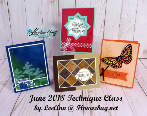 June 2018 technique cards