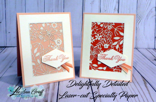 Delightfully Detailed laser cut paper cards