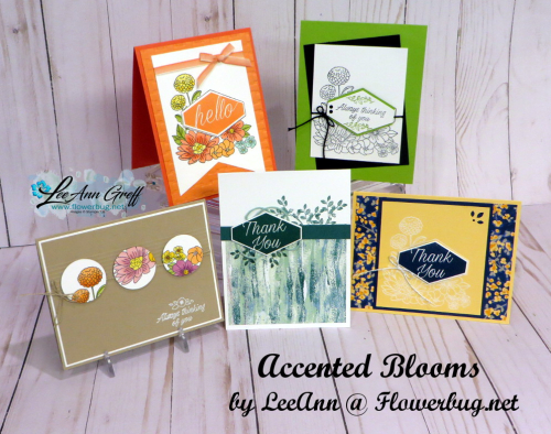 Accented Blooms cards