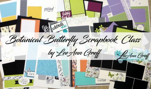 Botanical Butterfly Scrapbook class