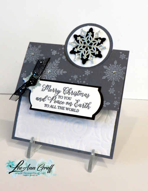 Snow is glistening gray fun fold lg