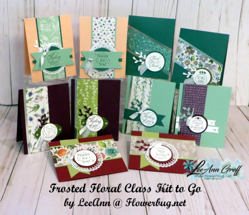 Sept Frosted Floral class cards