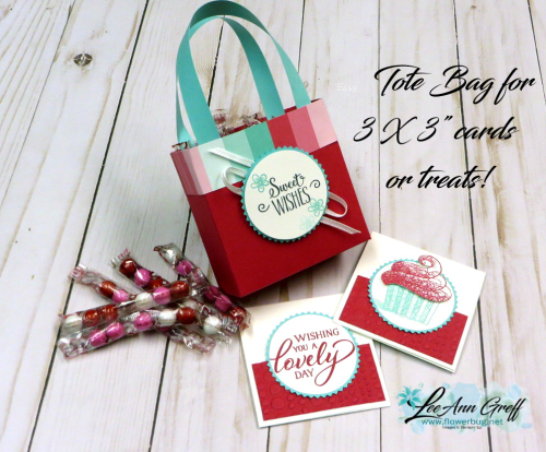 Valentines tote bag with treats