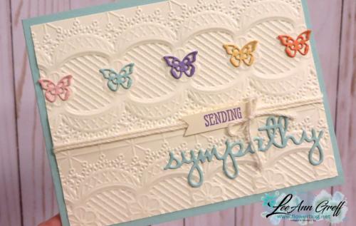 Lace Dynamic folder with butterflies
