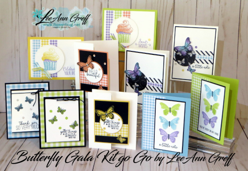 January Butterfly Gala cards kit