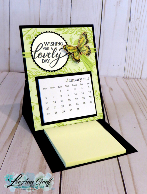 Easel calendar Botanical Butterfly