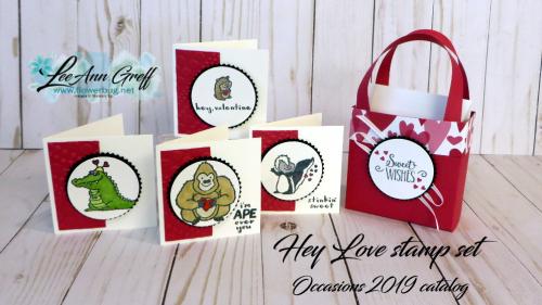 Hey Love cards & box