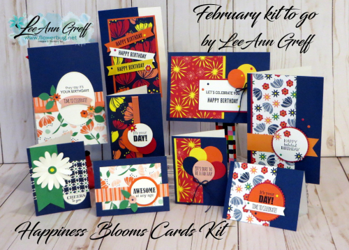 February Happiness Blooms kit cards