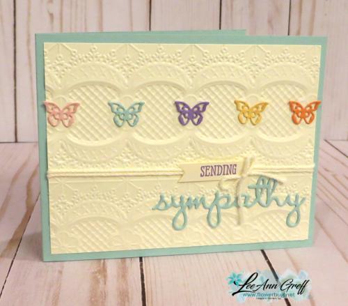 Lace Dynamic folder w butterflies