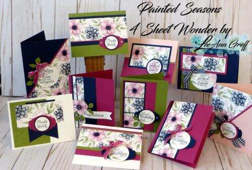 Painted Seasons 4 sheet wonder cards