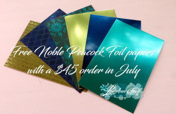 July free noble peacock paper