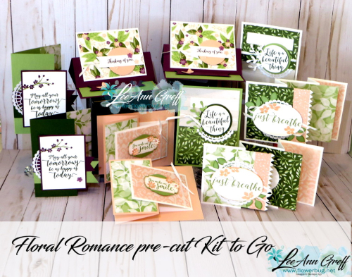 Floral Romance cards to go