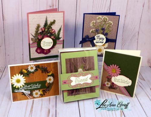 Pressed Petals & cards box