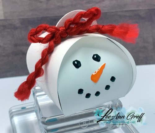 Mini Curvy keepsake snowman