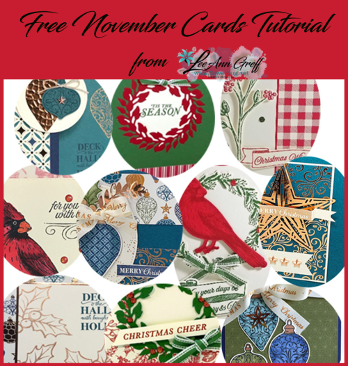 November cards tutorial