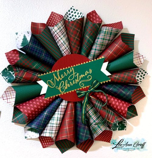Wrapped in plaid wreath