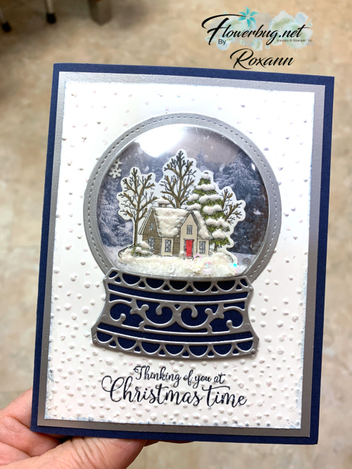 Snow Globe card Roxann