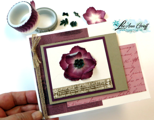 Pressed Petals washi tape & card