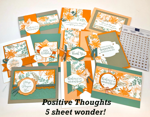 Positive Thoughts 5 sheet wonder .