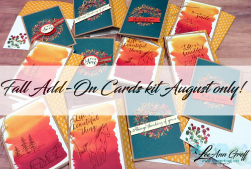August Add on cards