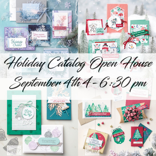 Holiday catalog open house