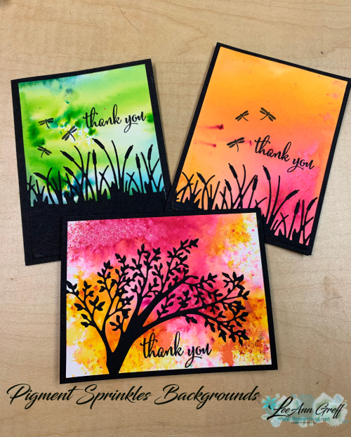 Pigment Sprinkles cards