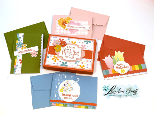 Scalloped note cards & box