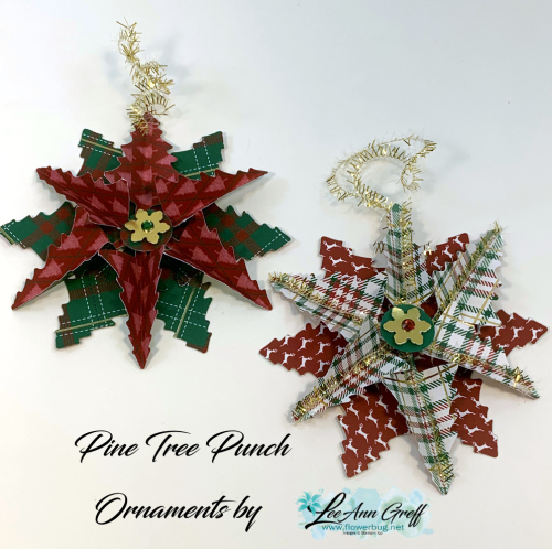 Pine Tree punch ornaments