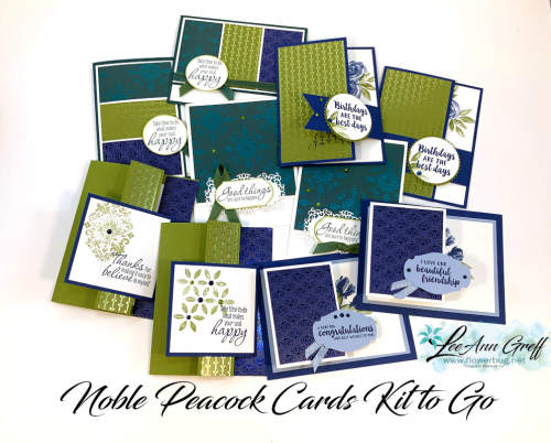 Noble Peacock cards to go