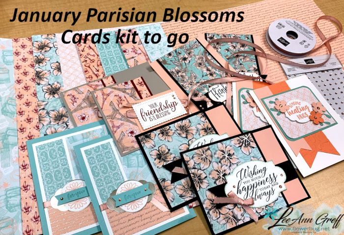 Parisian blossoms cards kit