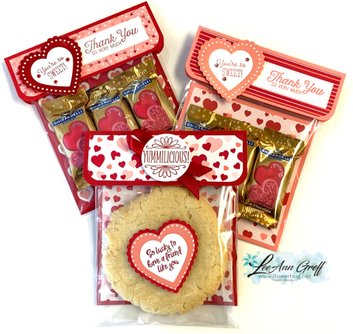 Valentines envelope treats.