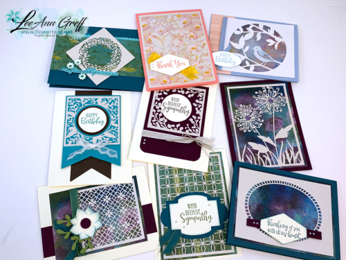 Shimmer Detailed laser-cut cards