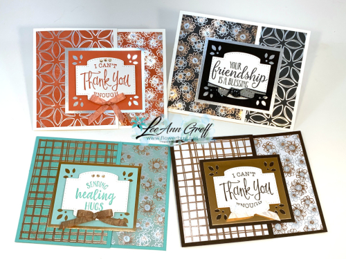 Flowering Foils fun fold cards