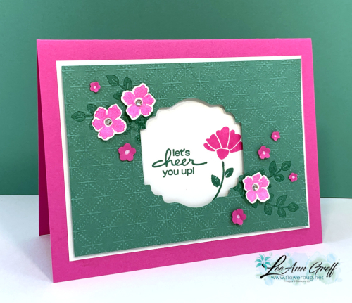 June 22nd Flowers window card