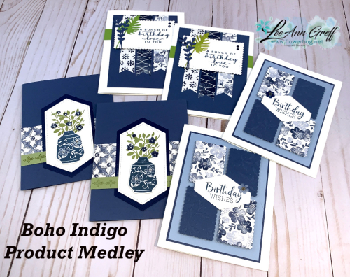 Boho Indigo Stitched Labels