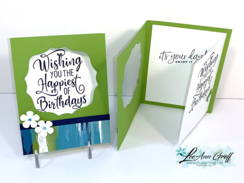 July Artistry window cards