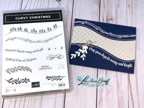 Curvy Christmas navy
