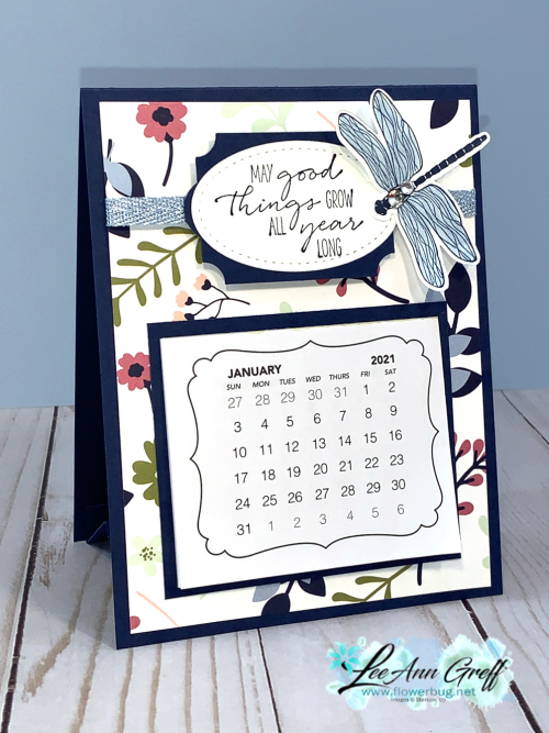 Paper Blooms easel calendar