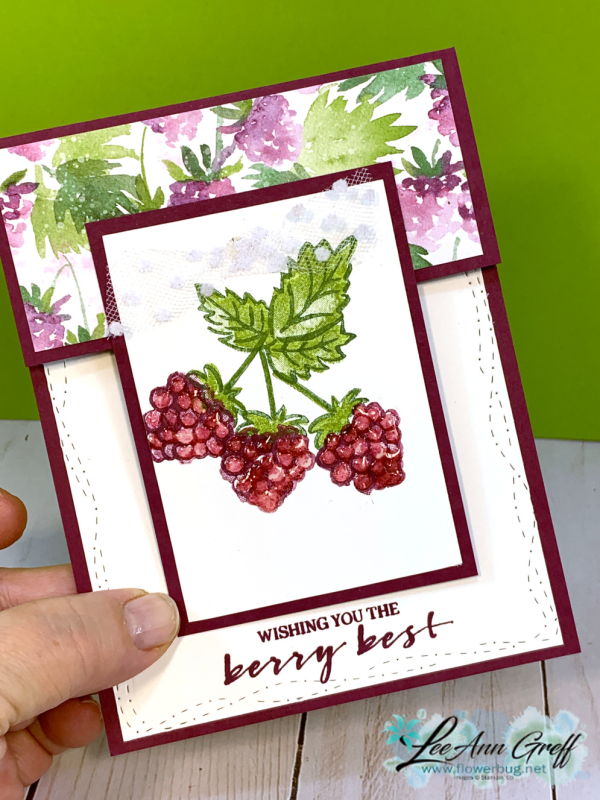 berry delightful fun fold cards with video  flowerbug's