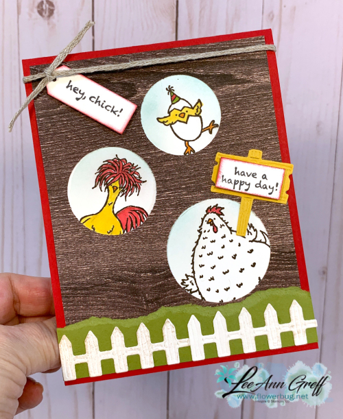 Hey Chick window card