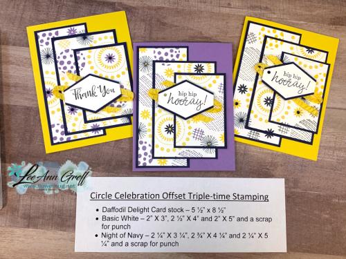 Circle Celebration Offset Stamping