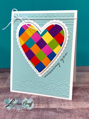 Paper Strips Woven Heart
