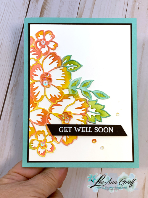 Blossoms in Bloom sponged cards