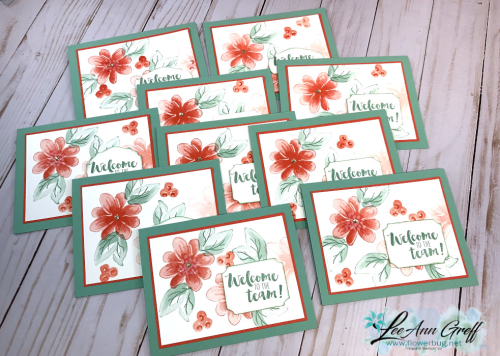 Gorgeous Posies Welcome cards