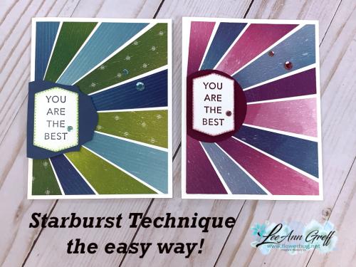 July 21 Starburst technique