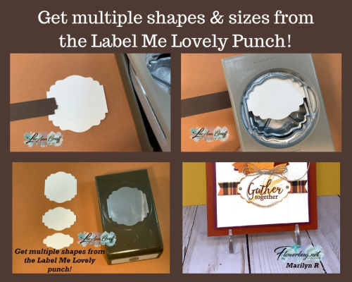 Label me Lovely punch shapes